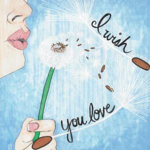 Blowing dandelion illustration