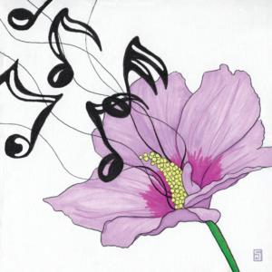 Rose of Sharon flower illustration