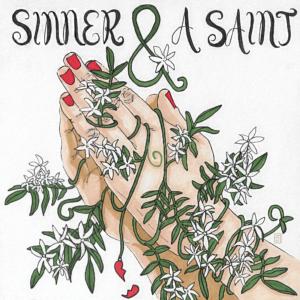 Jasmine flower and prayer hands illustration